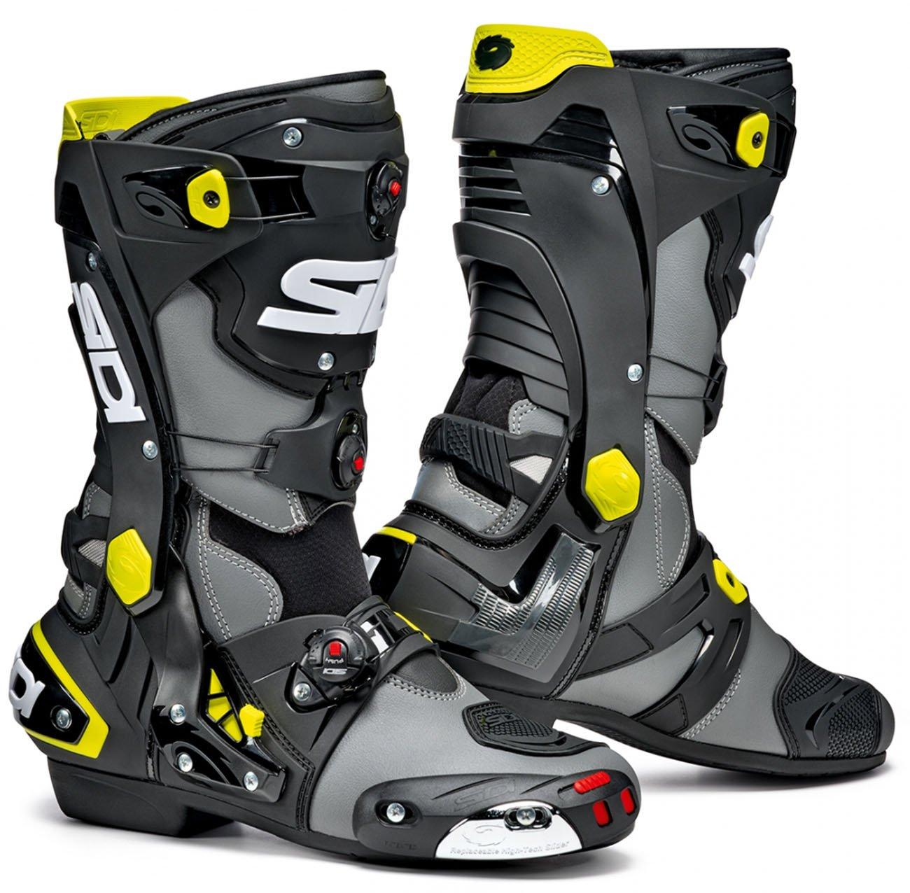 Мотоботы SIDI REX Grey/Black/Yellow Fluo