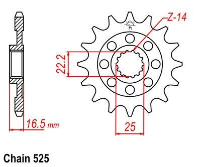 Звезда задняя для Ducati Monster 1100 09-13, Monster 796 11-15