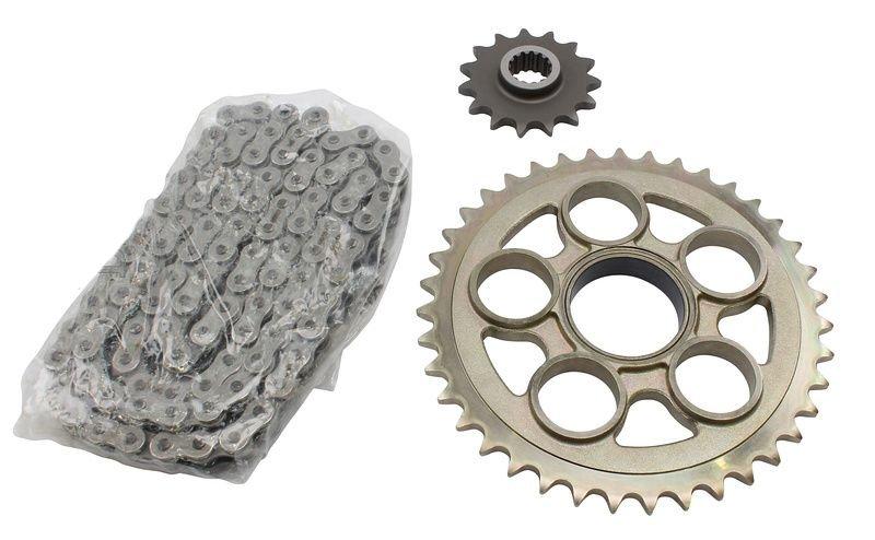 Комплект цепь + звезды для Ducati Monster 796 11-15
