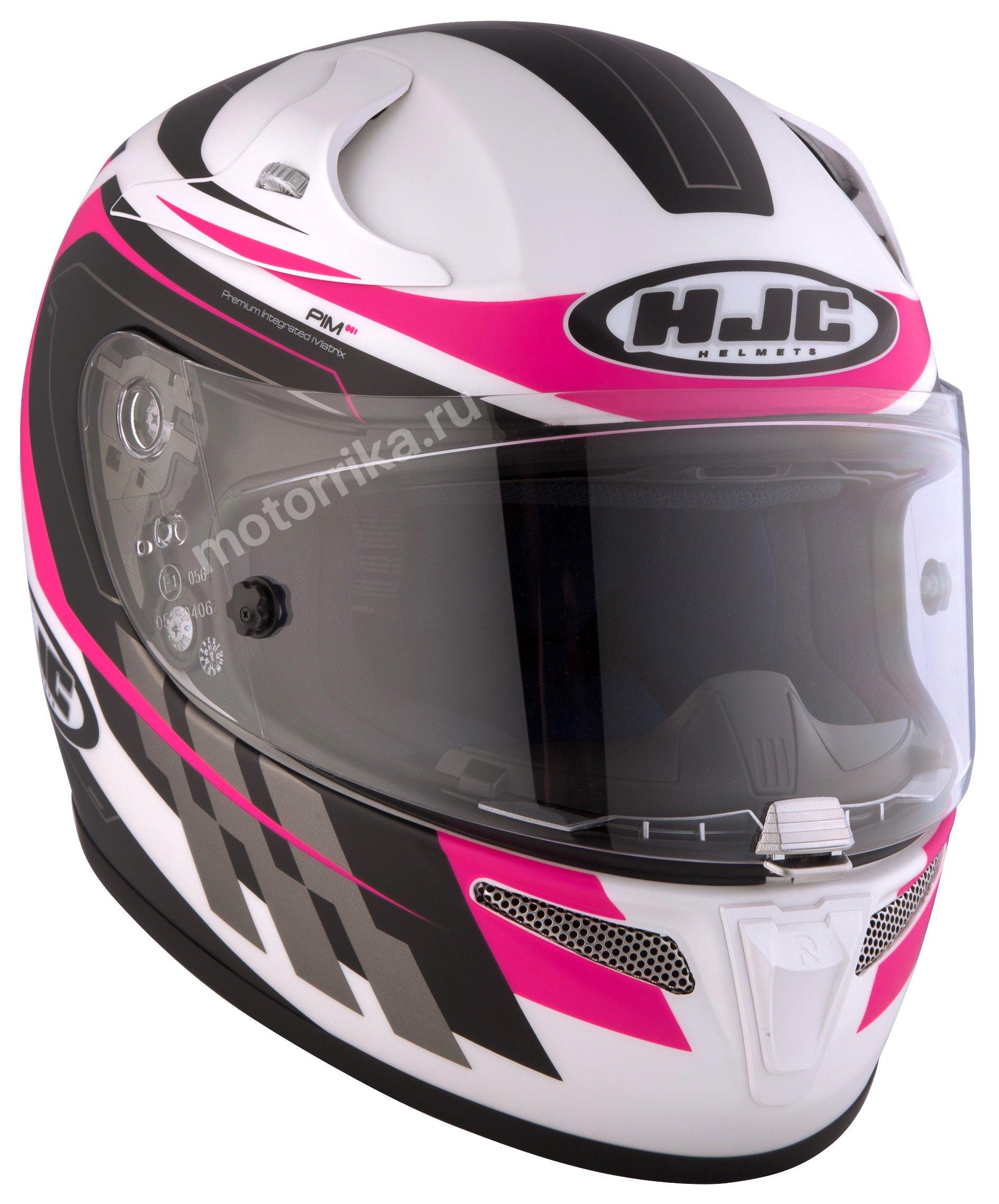 Мотошлем HJC RPHA10 Plus Cyper White/Pink