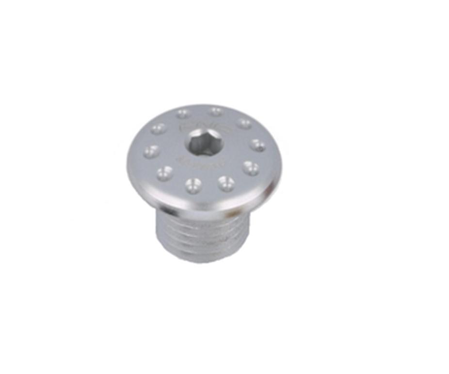 Заглушка отверстия под зеркало CNC RACING MRA11S М10 Silver (правая)