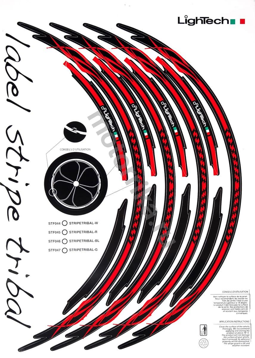 Наклейка на обод колеса Lightech Red