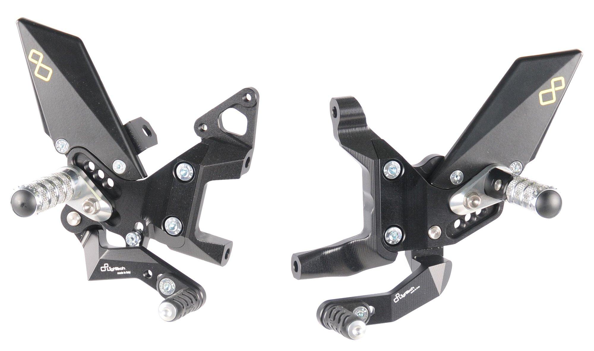 Комплект регулируемых подножек Lightech для Ducati Panigale 899 13-15, 959 16-19, 1199 12-14, 1299 15-18